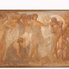 Adolfo De Carolis, I cavalli del sole, 1907, tempera e olio su tela. Ascoli Piceno, Pinacoteca Civica
