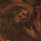 Leonardo da Vinci (1452-1519), Adorazione dei Magi, Particolare, Dopo prima del restauro