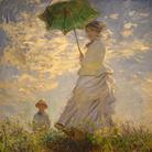Claude Monet, Femme avec un parasol, Camille Doncieux e Jean Monet, 1875, Olio su tela, National Gallery of Art Washington