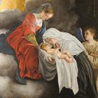 Orazio Gentileschi, Madonna con Bambino e Santa Francesca Romana,1615-1818, Olio su tela, 157 x 270 cm, Galleria Nazionale delle Marche, Urbino