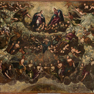 Jacopo Tintoretto (Venezia, 1518 - 1594) e Domenico Robusti (Venezia, 1560 - 1635), Paradiso, Bozzetto, 1588-1592, Olio su tela, 150 x 450 cm, Venezia, Fondazione Querini Stampalia in comodato, Collezione Intesa Sanpaolo
