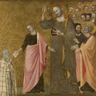 Francesco da Rimini, La Visione della Beata Chiara di Rimini, Probabilmente 1333-1340, Tempera all'uovo su legno, trasferita dal supporto originale, 60 x 55 cm | Credit Line: The National Gallery, London , Bought, 1985 | © The National Gallery, London