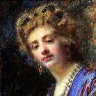 Daniele Ranzoni, La signora Maletti, Olio su tela, 52 x 55.5 cm, Collezione privata
