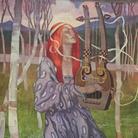 Paolo Antonio Paschetto, Ragazza con lira, 1908-1910, Olio su tela, 120 x 232 cm, Roma, Collezione privata