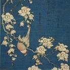 Hokusai, Bullfinch and Weeping Cherry, 1834