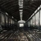Domenico Marranchino, Capannone abbandonato, Novate Milanese, Milano, 2016, Olio su tela, 210 x 145 cm