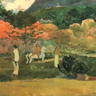 Paul Gauguin, Donne e un cavallo bianco, 1903, Olio su tela, 91.7 x  73.3 cm, Boston, Museum of Fine Arts