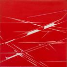 Titina Maselli, Fili nel cielo, 1969, Olio su tela, 169 x 250 cm, Galleria Massimo Minini di Brescia | Courtesy of Galleria Massimo Minini, Brescia | Foto: Gilberti Petrò