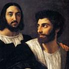 Raffaello Sanzio, Autoritratto con un amico, 1518-1520, Olio su tela, 83 x 99 cm, Parigi, Museo del Louvre