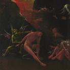 Jheronimus Bosch, Inferno, Polittico delle Visioni dell'Aldilà, 1490-1516 circa, Olio su tavola, 44 x 88 cm, Palazzo Grimani Venezia
