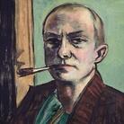Max Beckmann, Autoritratto su sfondo verde con camicia verde, 1938-1939, Olio su tela, 50 x 65.5 cm, Museum der bildenden Künste Leipzig Nachlass Mathilde Q. Beckmann | © 2018, ProLitteris, Zurich