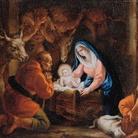 Giuseppe Varotti (Bologna 1715-1780), Adorazione dei pastori, Olio su tela, 41.8 x 32 cm, Provenienza: Mercato antiquario, Bologna, 2015