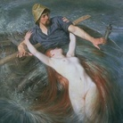 Knut Ekwall (1843 - 1912), The Fisherman and The Siren, Olio su tela