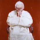 Yan Pei-Ming, Pape, 2005, Olio su tela, 300 × 300 cm, MAXXI - Museo Nazionale delle Arti del XXI secolo, Roma | Courtesy of Fondazione MAXXI Yan Pei - Ming, by SIAE 2018