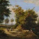 Torquato Mazzoni, Paesaggio con figure