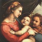 Raffaello Sanzio, Madonna della Tenda, 1513-1514. Olio su tavola, 51.2 x68.5 cm. Alte Pinakothek, Monaco di Baviera