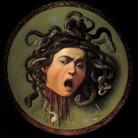 Michelangelo Merisi da Caravaggio, Testa di Medusa, 1597 ca. Olio su tela, cm 60×55. Galleria degli Uffizi, Firenze