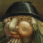 "Giuseppe Arcimboldo, L'Ortolano (Priapo) / Ciotola di verdure, 1590-1593 circa, Olio su tavola, 24.2 x 35.8 cm Cremona, Museo Civico ""Ala Ponzone"""