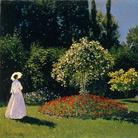 Claude Monet (1840 - 1926), Signora in giardino a Sainte-Adresse, 1867, Olio su tela, di 101.5 x 82.3 cm, Museo Statale Ermitage, San Pietroburgo