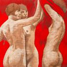 CTarik Berber, Dalla serie Toxic Cadmium, Cadmium Toxic Red 4, Olio su tela, 75 x 65 cm, London, 2016 | © Tarik Berber
