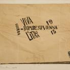 Carlo Carrà, Bombe su Vienna: Bomboni, 1914-1915. Inchiostro su carta, cm 21,2 x 27,4.