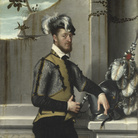 Giovanni Battista Moroni, Faustino Avogadro, detto Il Cavaliere dal Piede Ferito, 1555-1560 circa, Olio su tela, 106 x 202 cm, The National Gallery, London | Foto: © The National Gallery, London