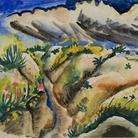 Otto Dix, Schutzengraben in der Champagne, 1916. Acquarello, cm 20,4 x 28,8.