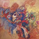 Tancredi Parmeggiani, Senza titolo (W la pittura astratta), 1960, Tempera su carta intelata 180 x 153 cm, Collezione privata, Milano