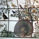 La volta della Stanza degli uccelli, (particolare con pavone), Villa Medici, Roma | © Wikimedia Commons Photo by Saiko 2013