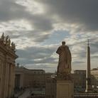 Piazza San Pietro a Roma (con la Statua di San Pietro di spalle in primo piano, di Giuseppe De Fabris, 1840), Immagine tratta dal film