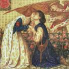 Dante Gabriel Rossetti (1828 - 1882), Roman de la Rose, 1864, Acquerello su carta, 34.3 x 34.3 cm, Tate, Presented by Andrew Bain 1925 | © Tate, London 2019