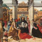 Polittico Griffoni, 1472-1473 circa, Ercole de' Roberti, Storie di San Vincenzo Ferrer, Tempera su tavola, Roma Pinacoteca Vaticana