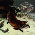 Gustave Courbet, Volpe nella neve, 1860, Olio su tela, 128 x 85.7 cm, Dallas Museum of Art, Foundation for the Arts Collection, Mrs. John B. O'Hara Fund