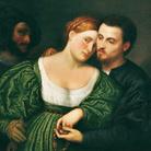 Paris Bordon (Treviso, 1500 - Venezia, 1571), Gli amanti veneziani (o la promessa di nozze), 1525-1530, Olio su tela, 86 x 80.5 cm, Pinacoteca di Brera, Milano