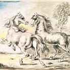 Giorgio De Chirico, Due cavalli in una città.