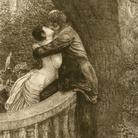 Max Klinger (1857 - 1920), Kiss, Dalla serie A Love, Opus X, 1880-1887, Acquaforte con incisione e acquatinta, 61 x 44.50 mm, Houston, Museum of Fine Arts