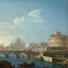 Pietro Bellotti, Veduta di Roma con Castel Sant'Angelo e il Vaticano, 1771, 59 x 73.3 cm, Somerset (Gran Bretagna), Collezione privata