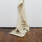 Giulio Paolini, Quam raptim ad sublimia, 1969, Vernice su tessuto di cotone Striscione, 420x 65 cm, Misure complessive variabili | Foto: Antonio Maniscalco