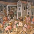 """""""La leggenda della Vera Croce"""" di Gaddi sui ponteggi in S. Croce"""