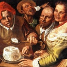 Vincenzo Campi, Mangiatori di ricotta, olio su tela, 72 x 89 cm. Collezione privata