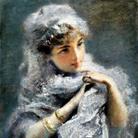 Daniele Ranzoni, La giovinetta inglese, 1886, Olio su tela, 36.5 x 50 cm, Collezione privata