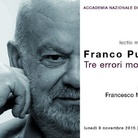 Lectio Magistralis - Franco Purini. Tre errori moderni