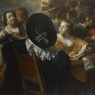 Jan Cossiers (1600 - 1671), L'allegra compagnia (I cinque sensi), Dopo il 1650, Olio su tela, 198 x 132.90 cm, Anversa, Collezione Privata