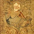 Raffaellino del Garbo, Attribuzione, San Pietro, 1513, Tela di lino ricamo in oro-velato, Collezione privata