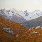 Carlo Cressini, Veduta alpestre, Olio su tavola, collezione privata