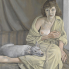 Lucian Freud, Girl with a White Dog, 1950-1951, Olio su tela, Lucian Freud Archive / Bridgeman Images | Foto: © Tate London | Courtesy of Chiostro del Bramante, Roma