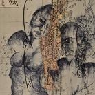 Zehra Doğan, Parçalanmış birliktelik, Insieme frammentato, 2018, Carcere di Diyarbakir, Penna a sfera su pagina di atlante,23 x 28 cm | Foto: Jef Rabillon