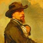 Giovanni Boldini, Ritratto di Vincenzo Cabianca, olio su tela, 35x24 cm, Coll. Caript, Pistoia