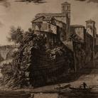 Giambattista Piranesi, Vedute di Roma, Isola Tiberina, Acquaforte, 58.8 x 85.2 cm | Courtesy Musei Civici di Bassano del Grappa