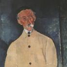 Amedeo Modigliani (Livorno,1884 - Parigi, 1920), Ritratto di Lepoutre, 1916